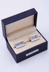 Gri Gümüş Renk Kol Düğmesi Kd178