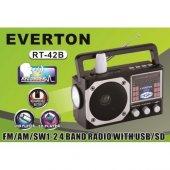 Everton Rt 42b Usb Ve Kart Girişli Şarjlı Elektrikli Pilli Radyo