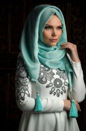 Tesettur7 Muslima Wear Püsküllü Şal 34001 Mint