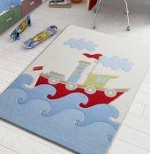 Confetti Çocuk Odası Anaokulu Oyun Halısı Baby Ship 100x150