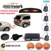 Türkçe Konuşan Led Göstergeli Park Sensörü Füme