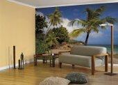 Komar 8 885 Palmiyeli Kumsal Deniz Duvar Kağıdı