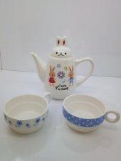 üçlü Seramik Çay İkram Seti001