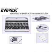 Everest Kb Bt60 Siyah Bluetooth İpad2 Q Multimedia Stand Ve Kablosuz Klavye