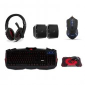 Everest Sgm K77 Usb Gaming Set Kulaklık+speaker+ Q Multimedia Klavye + Mouse + Pad Set