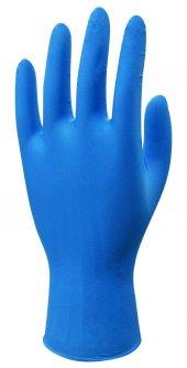 Beybi Nitril Muayene Eldiveni M Beden Mavi Renk Pudrasız 20 Li Paket