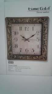 Time Gold Duvar Saati 50*50 Cm