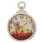 Time Gold Flower Duvar Saati 50*68 Cm Metal