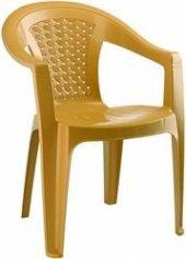 Plastik Bahçe Sandalyesi Kahverengi 5 Adet