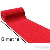 8 Metre Kırmızı Kıvırcık Paspas 1 Mt Genişlik