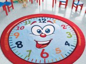 Confetti Çocuk Odası Anaokulu Oyun Halısı Happy Ho...