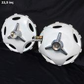 22.5 İnç Star Model Plastik Jant Kapağı Ve Orta Boy Fırfır (2 Bombeli 8 Düz)