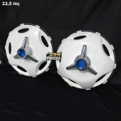 22.5 İnç Star Model Plastik Jant Kapağı Ve Orta Boy Mavi Fırfır (2 Bombeli 8 Düz)