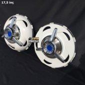 17.5 İnç Plastik Jant Kapağı Ve Büyük Mavi Fırfır Pro Model (2 Bombeli 2 Düz)