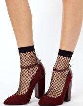 Geniş File Bayan Soket Çorap +hediyeli