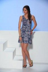 Gızzey Geniş Askılı Bayan Elbise 10189
