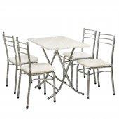 Sinem Muftak Balkon Masa Sandalye Takımı Set 70x110 Whtm