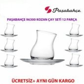 Paşabahçe 96300 Kozan Çay Seti 6 Bardak 6 Tabak