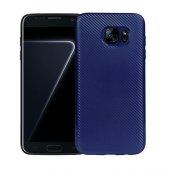 Fitcase Galaxy S7 Edge Elektroliz Carbon Kaplama Arka Kapak Laciv