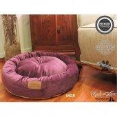 Wowpaw Luxury Tay Tüyü Kedi Köpek Yatağı 60x60x15 Mor