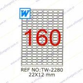 Tanex 22x12 Mm Laser Etiket Tw 2280