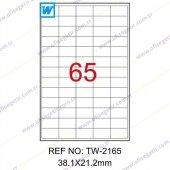 Tanex 38,1x21,2 Mm Laser Etiket Tw 2165