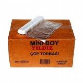 Mini Boy Çöp Poşeti 40*50 Şeffaf Koli