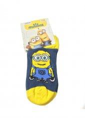 Minions Lisanslı Çoçuk Çorabı 8 9 Yaş Sarı