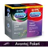 Durex Uzayan 20li + Yakın Hisset 20li Prezervatif