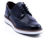 Rugan Siyah Renk Piramit Desen Casual Ayakkabı