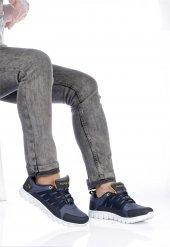 Jmp Siyah Lacivert Sarı Günlük Ayakkabı