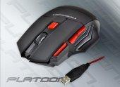 Platoon Pl 1550 Oyuncu (Oyun Gamer Gaming) Kablolu Mouse + Mousepad