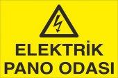 Pvc İş Güvenliği Levhası Elektrik Pano Odası...
