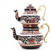 Bakır Çaydanlık (El Yapımı Dövme)model 10