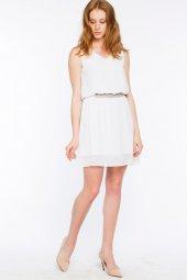 Ravenna Şifon Beyaz Elbise