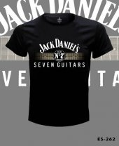 Büyük Beden Jack Daniels Seven Guitars Tişört