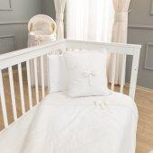 Funna Baby 5303 Premium Baby Nevresim Takımı 4 Parça Beyaz