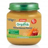 Milupa Organik Elmalı Havuçlu 125 Gr Kavanoz Mamas