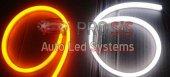Flexible Neon Led 60cm Beyaz Sarı Sinyal Modüllü