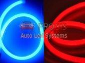 Flexible Neon Çift Kanallı Led 60cm Mavi Sarı Sinyal Modüllü
