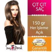 8 Parça Çıtçıt Saç Kahverengi Karamel