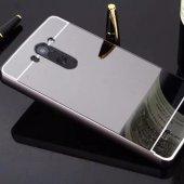 Gpack Lg G3 Kılıf Aynalı Metal Bumper + Kırılmaz Cam