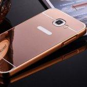 Gpack Samsung Galaxy J7 Kılıf Aynalı Metal Bumper