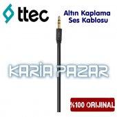Ttec Aux Kablo Altın Kablama Streo Kablo 3.5mm 1 Metre