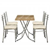 Sinem Muftak Balkon Masa Sandalye Takımı Set 60x90 Ant07
