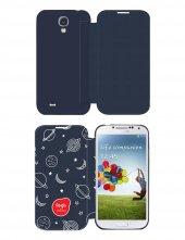 Gogo Samsung Galaxy S4 Saturn Kapaklı Kılıf