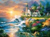 Castorland 2000 Parça Günbatımı Ve Deniz Feneri Puzzle (James Lee)
