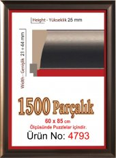 1500 Parçalık Koyu Kahverengi Puzzle Çerçevesi (Heidi 85x60 Cm)