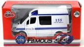 ışıklı Ve Sesli Çek Bırak Polis Minibüsü (1 30 Ölçekli)