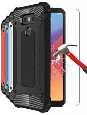 Lg G6 Kılıf Tam Koruma Sert Plastik + Kırılmaz Cam